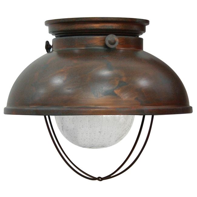 Fisherman Weather Copper Bronze Ceiling Light Fixture - 13491329 - Overstock.com Shopping - Big ...