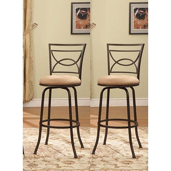 Counter Height Swivel Stools With Backs : Half Circle Back Adjustable Metal Swivel Counter Height Bar Stools ...