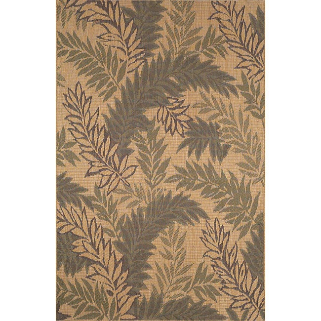 palm leaf green rug 3 39 3 x 4 39 11 13492707 shopping great deals on 3x5 4x6 rugs. Black Bedroom Furniture Sets. Home Design Ideas