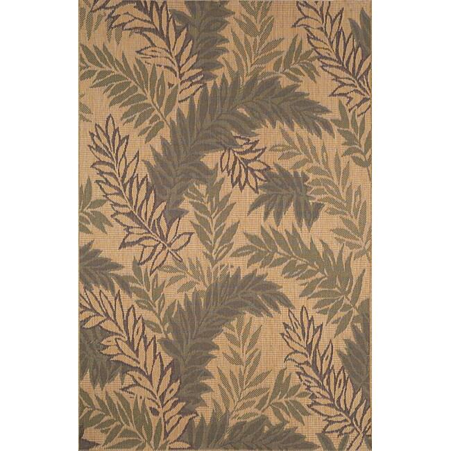 palm leaf green rug 7 39 10 x 9 39 10 13492724 shopping great deals on 7x9. Black Bedroom Furniture Sets. Home Design Ideas