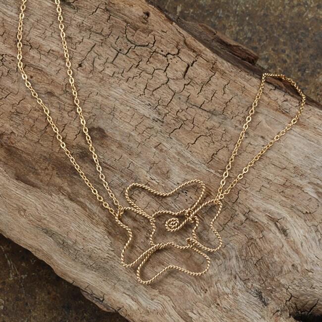 Goldfill 14k Flower Necklace