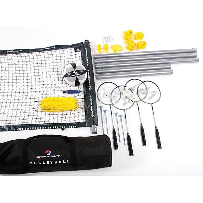 Sportcraft Badminton And Volleyball Platinum Set