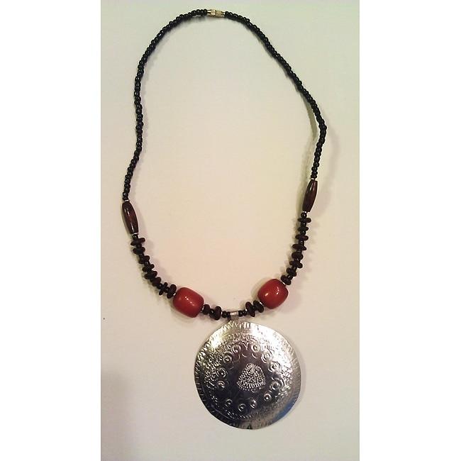Recycled Aluminum Beaded Circle Necklace (Kenya)
