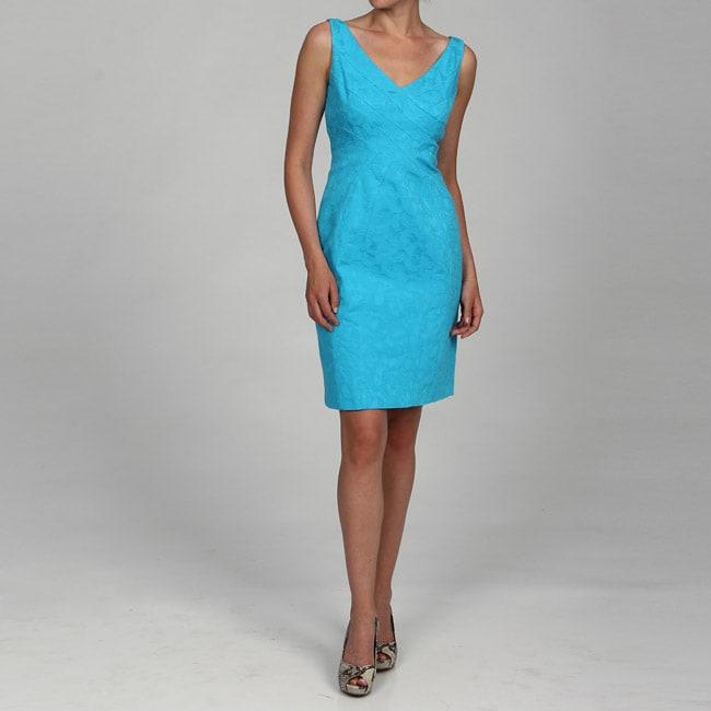 Evan Picone Women's Sleeveless Jacquard Casual Dress