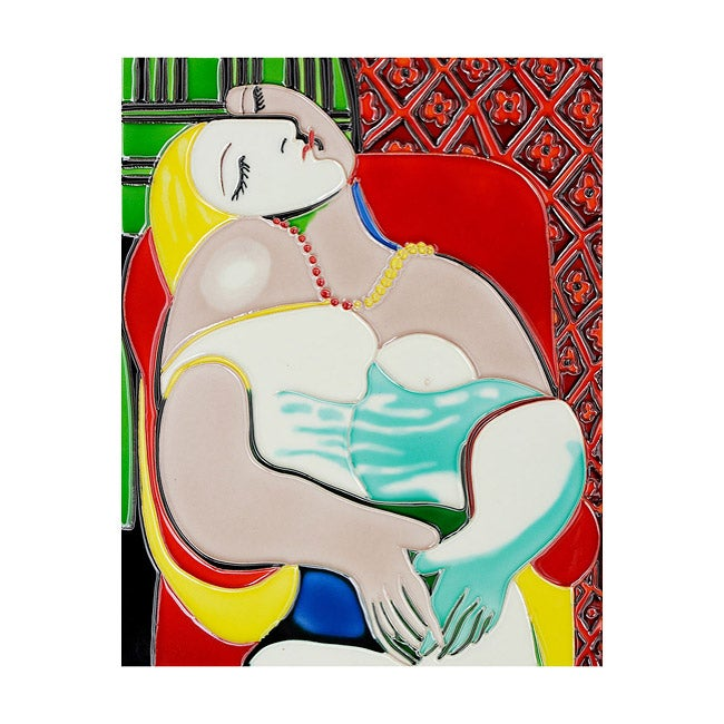 OverstockArt Picasso 'The Dream' Ceramic Wall Tile