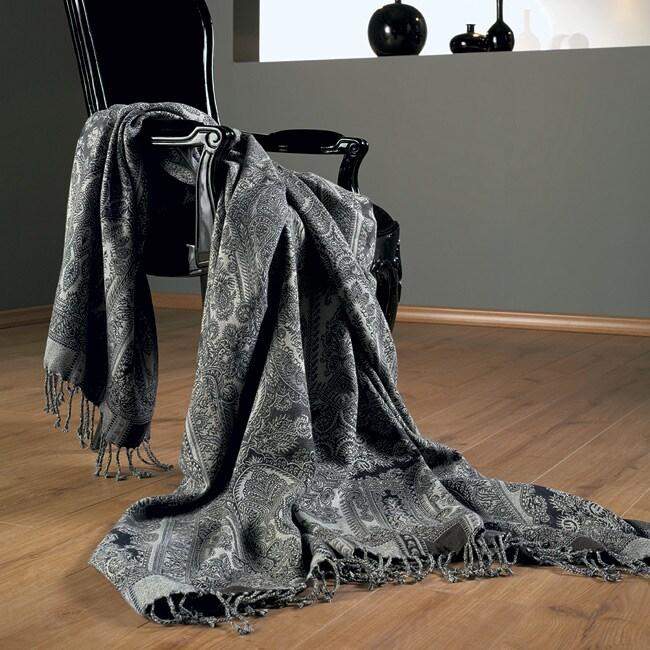 Lara Jacquard Wool Throw