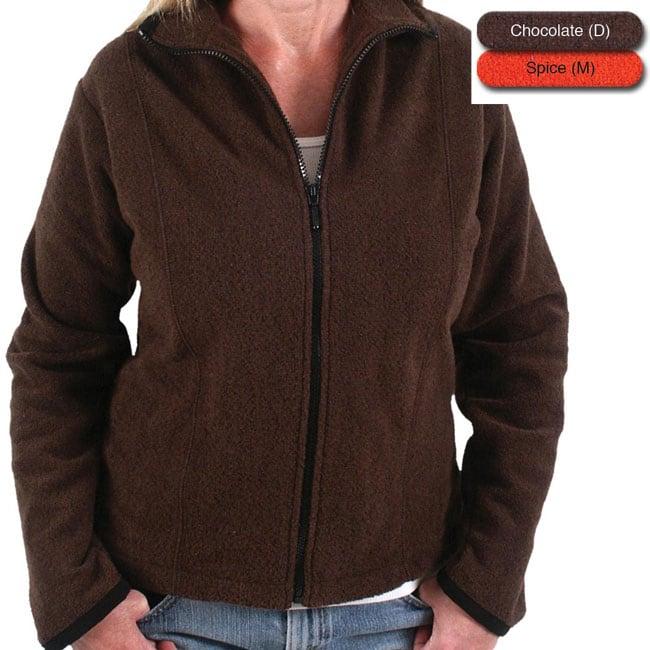 Green Brand Women's Eco-friendly Full-zip Crochet Jacket