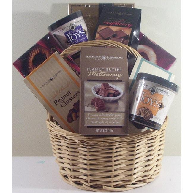 Harry London Chocoholics Nine-piece Wicker 'Just Because' Gift Basket