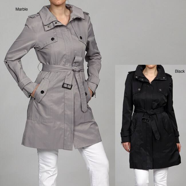 Kenneth Cole Women's Belted Trench Coat