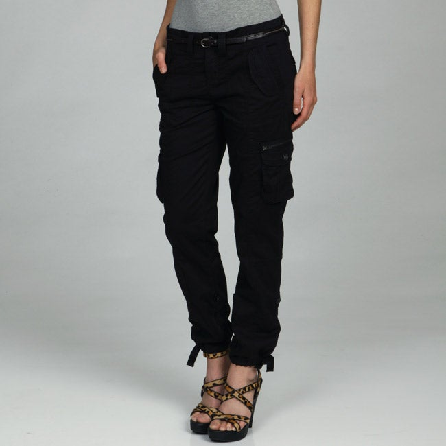 Calvin Klein Jeans Womens Slouchy Belted Cargo Pants
