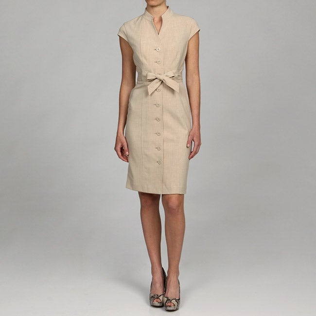 Calvin Klein Womens Belted Dress