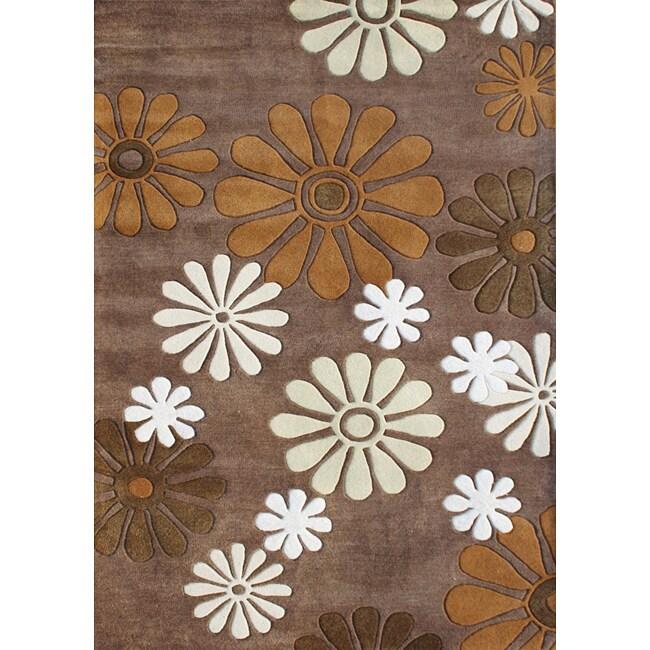 Alliyah Handmade Dark Chocolate New Zealand Blend Wool Rug (8' x 10')