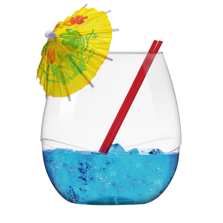 Takeya Plastic Swirl Wine Cocktail Tumblers Glasses (Pack of 6)