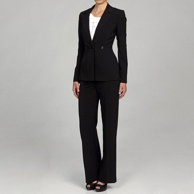Innovative Calvin Klein Women39s Black 2piece Pant Suit  13828895  Overstock