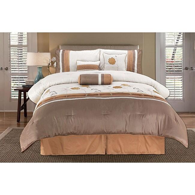 Sterling Rose Gold 7-piece Comforter Set
