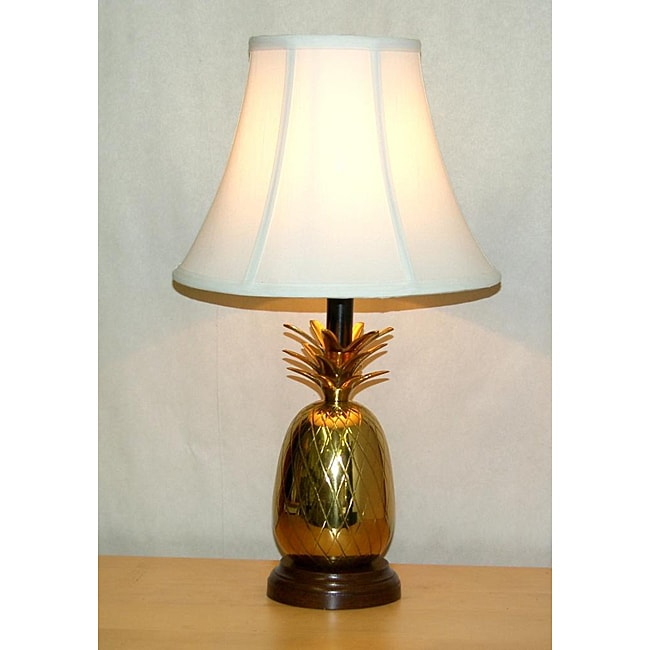 lacquered brass pineapple table lamp 13532011. Black Bedroom Furniture Sets. Home Design Ideas