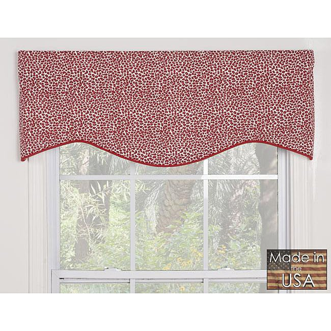 Victor Red Leopard Cotton M-shaped Valance