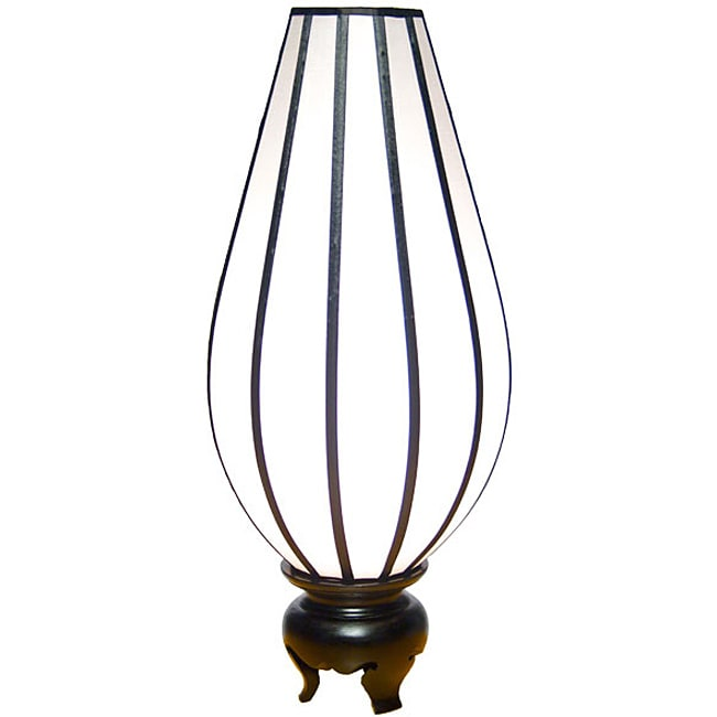 Silk Large Serenity White Table Lamp (Vietnam)