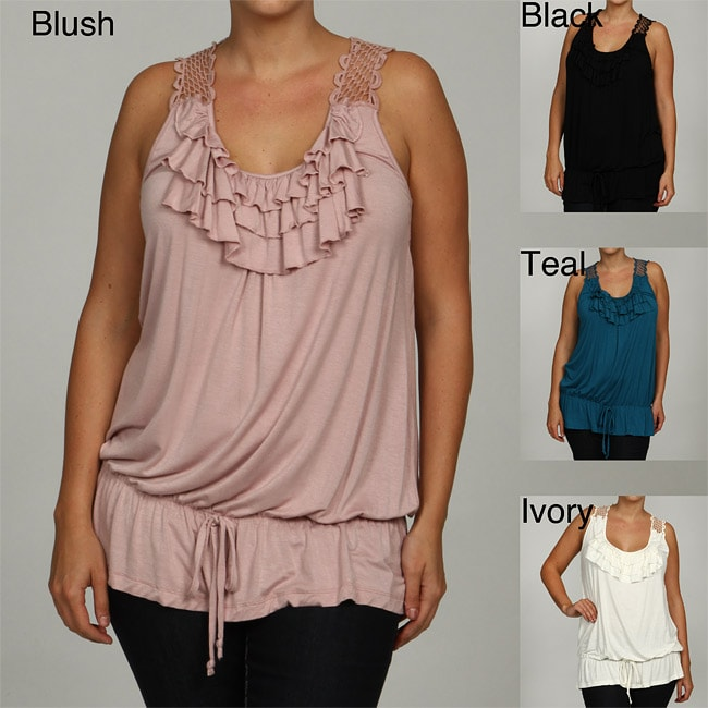 Simply Irresistible Women's Plus Size Lace Back Top