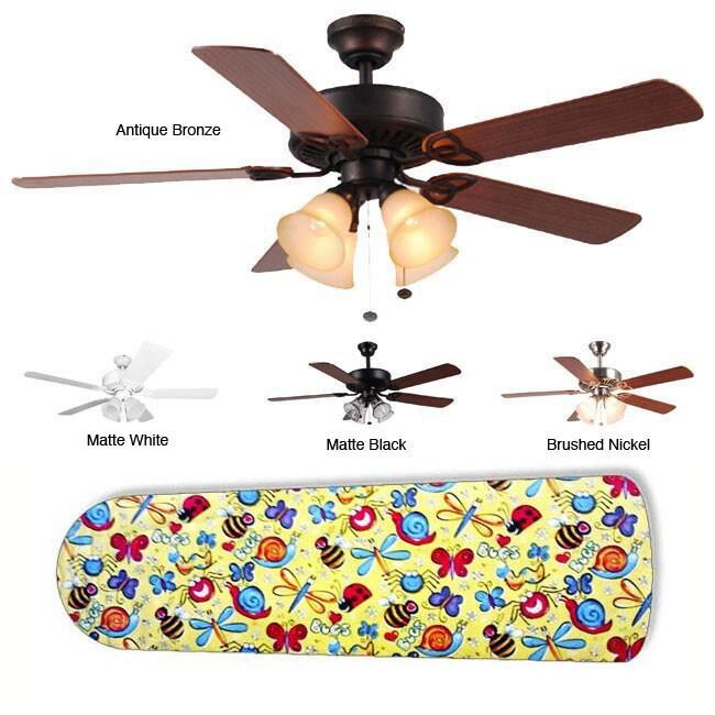 New Image Concepts 4-light 'Bug Bonanza' Blade Ceiling Fan