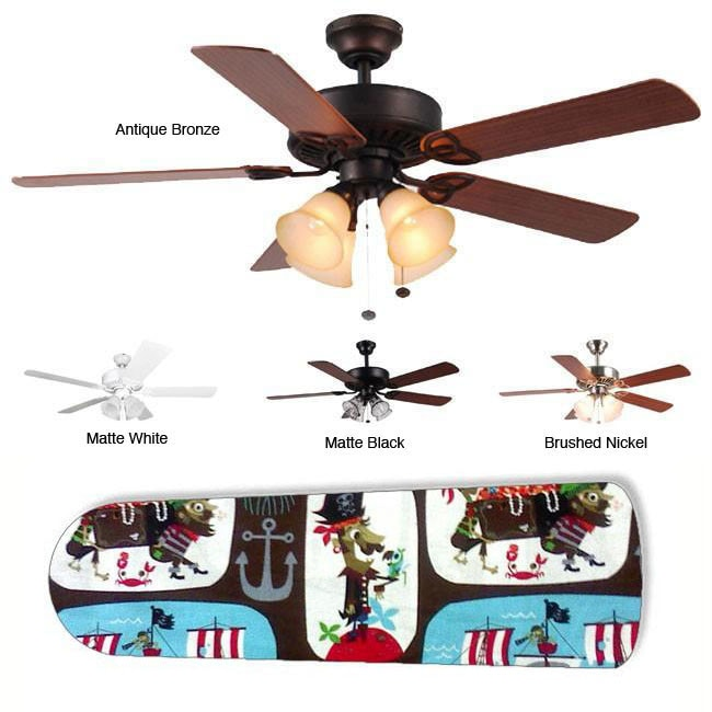 New Image Concepts 4-light Ahoy Matey Pirate Blade Ceiling Fan