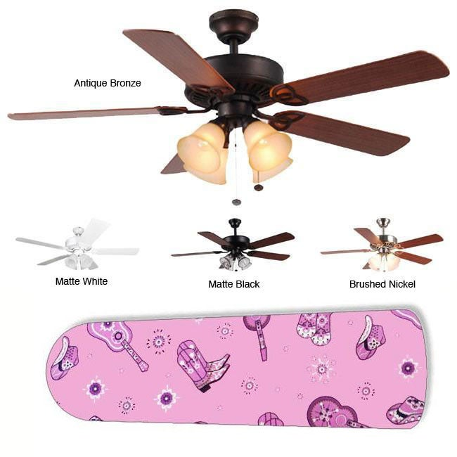 New Image Concepts 4-light 'Rodeo Gal' Blade Ceiling Fan