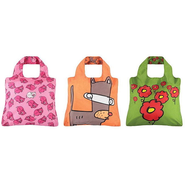 Envriosax Kid's Multicolor Pouch Shopper Tote Bags (Set of Three)