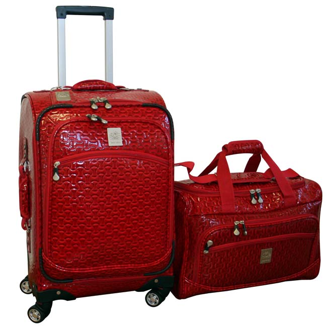 Jenni Chan Bows 2-piece Carry-on Spinner Luggage Set