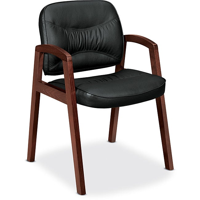 basyx by HON VL800 Series Guest Chair with Wood Arms