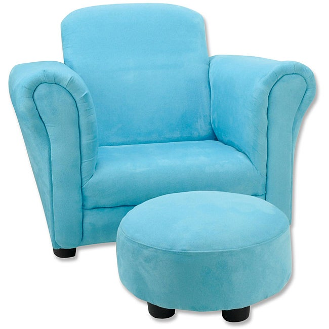 Trend Lab Turquoise Toddler Chair and Ottoman