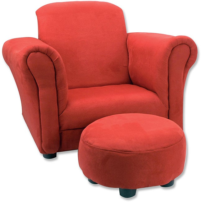 Trend Lab Red Toddler Chair and Ottoman