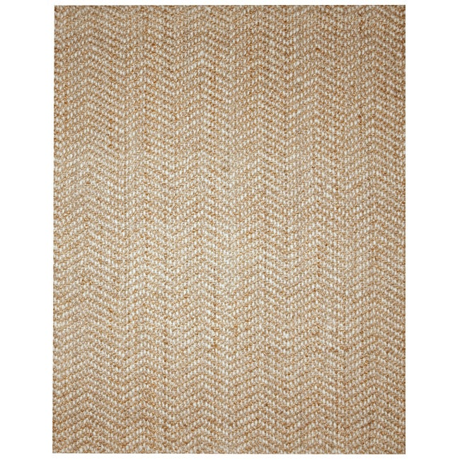 Elysian Natural Herringbone Jute And Wool Rug 8 X 10