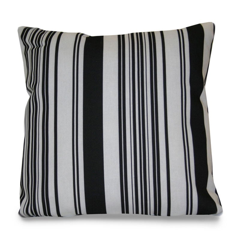 Black And White Stripe Outdoor Throw Pillows : Thro Modern House Stripe Outdoor Black/ White Decorative Pillow - 13574163 - Overstock.com ...