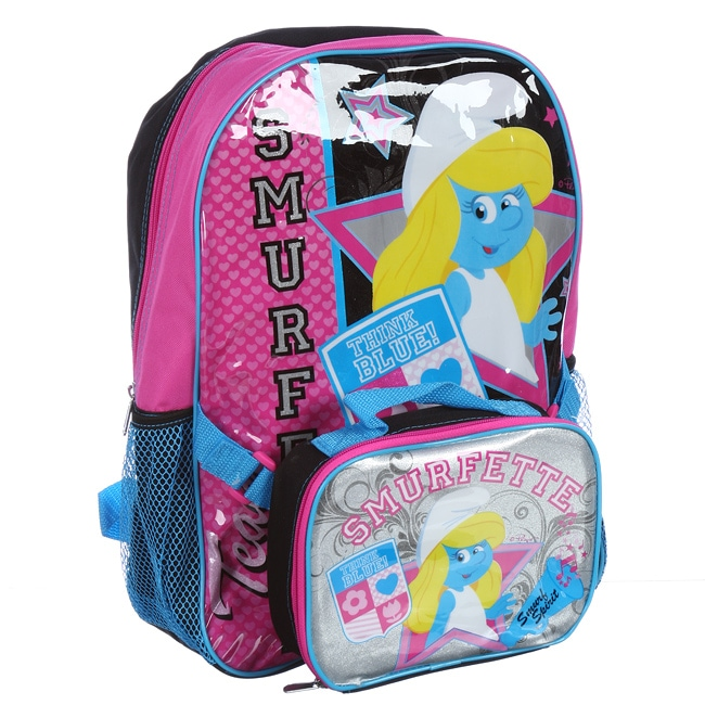 Smurfs 'Smurfette' 16-inch Backpack and Lunch Tote