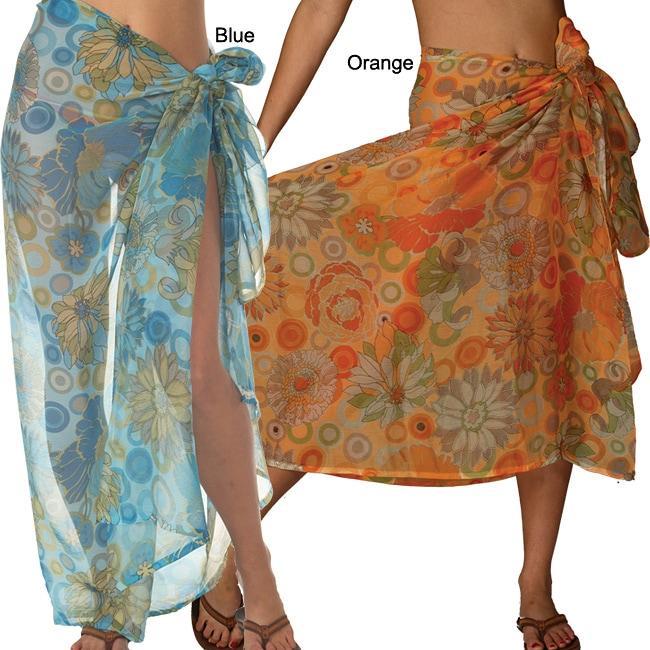 Polyester Chiffon Floral Print Sarong (India)