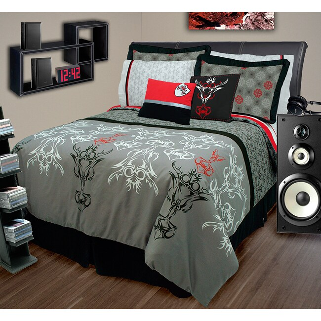 Tattoo 4-piece Full-size Comforter Set