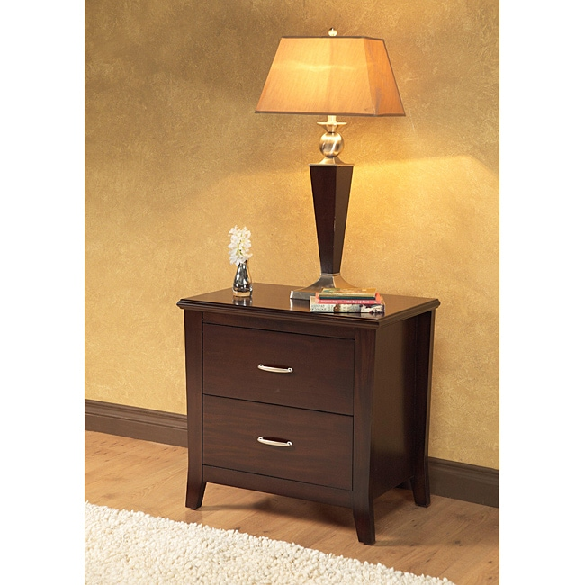 Flair 2-drawer Charging Station Nightstand