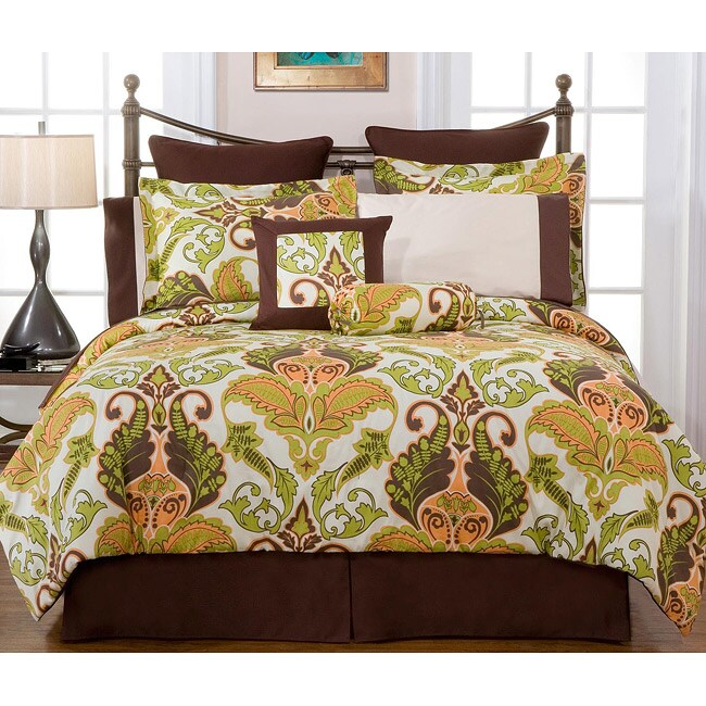 Hannah 12-piece Cal King-size Bed in a Bag with Sheet Set
