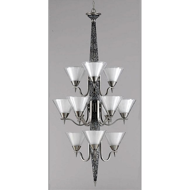 XO 12-light White Mosaic Chandelier