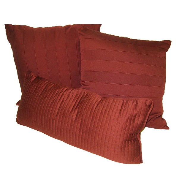 Buckley Burgundy Decorative Pillows (Set of 3)