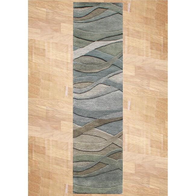 Alliyah Handmade New Zeeland Blend Classic Grey Green Wool