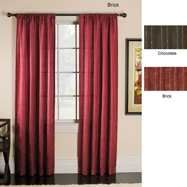 Crawford 84-inch Rod Pocket Curtain Panel Pair