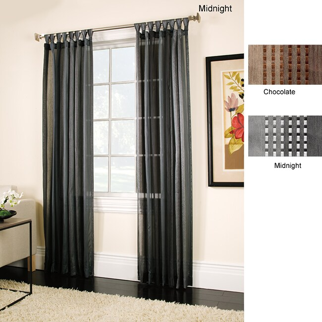 Carrington 84-inch Tie-top Curtain Panel Pair