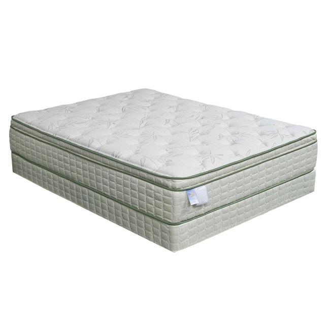 Eco pedic euro pillow top premium king size mattress set for Best deal on king size mattress