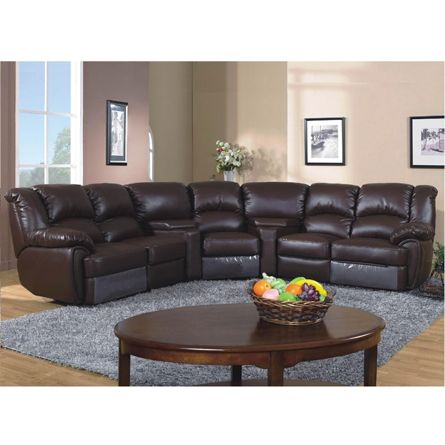 Lorimar 5-piece Leather Reclining Sofa Set