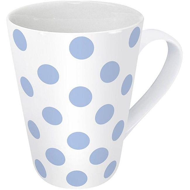Konitz Polka Dots Blue Mugs (Set of 4)