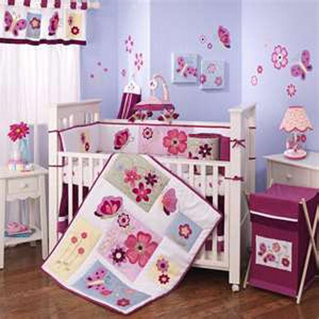Lambs & Ivy Tivoli Garden 4-piece Crib Bedding Set