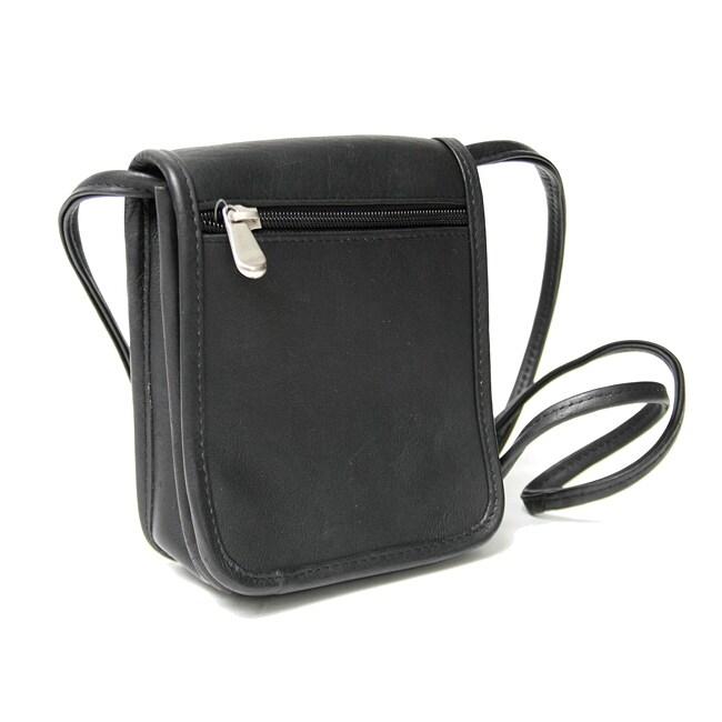 Royce Leather Vaquetta Petite Flapover Cross-body Bag