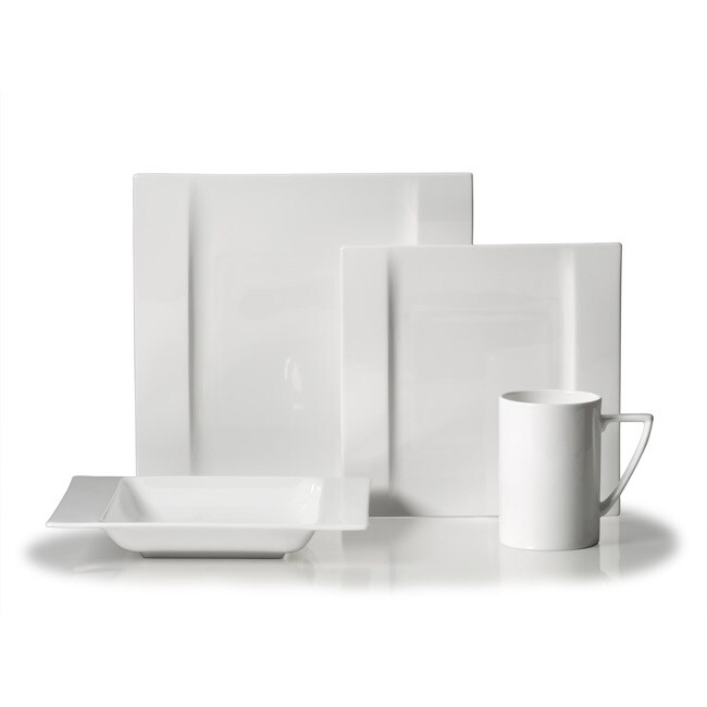 Mikasa Modern White 4-piece Place setting
