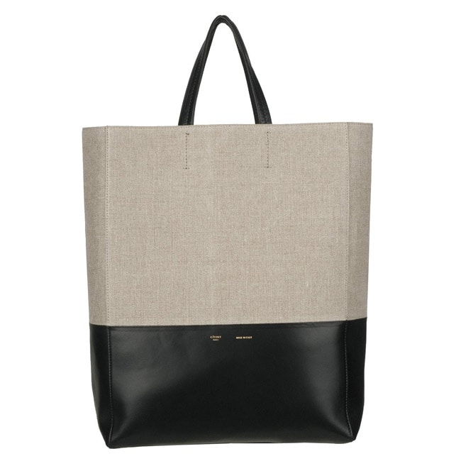 celine leather bag price - Celine Canvas and Leather Tote Bag - 13637686 - Overstock.com ...